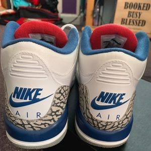 Retro Air Jordan True Blue 3 cement III 6.5 boys